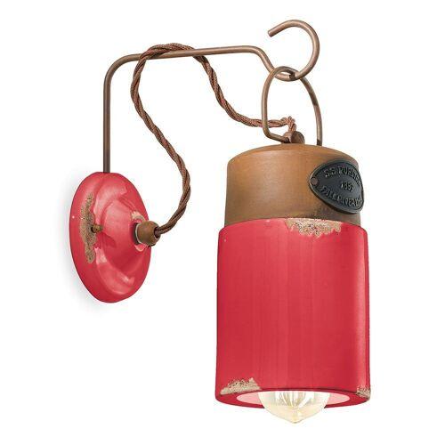 Ferroluce Wandleuchte »Industrial«, Rot