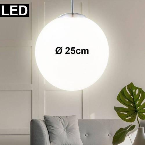 etc-shop Hängeleuchte, LED 9,5 Watt Decken Pendel Leuchte Lampe Beleuchtung Esstisch Kugel Design