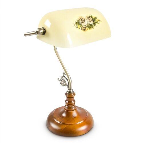 relaxdays Schreibtischlampe »Bankerlampe SHABBY gelb«