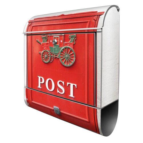 banjado Briefkasten »Motiv Postkasten Nostalgie«, ohne Wunschname