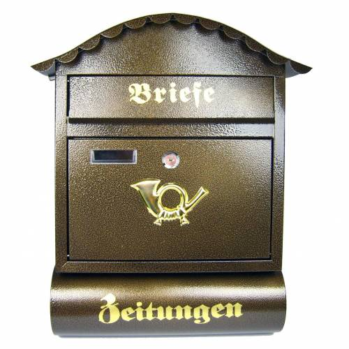 Airbrush-City Briefkasten »Briefkasten Modell Londres nostalgisch braun«