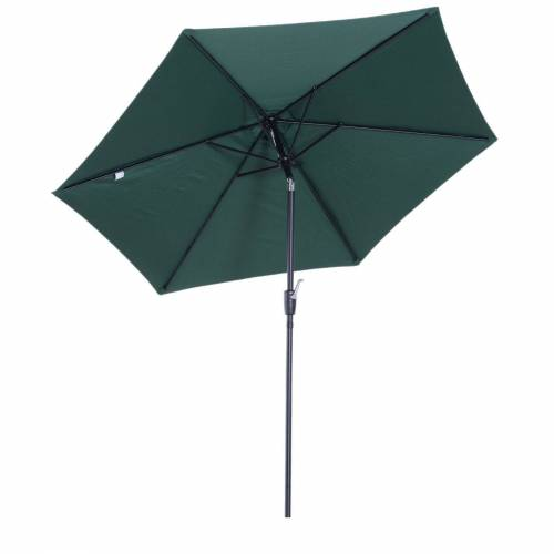 Outsunny Sonnenschirm »Sonnenschirm mit Handkurbel«, grün