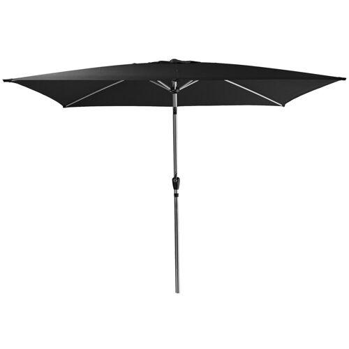 AMARE Sonnensegel »Luxus Sonnenschirm eckig«, Wetterfest, schwarz