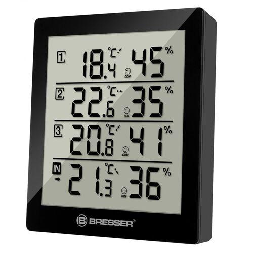 BRESSER Thermometer »Temeo Hygro Quadro - 4x Thermo- und Hygrometer«, schwarz