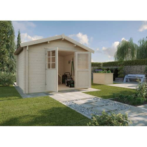 weka Set: Gartenhaus »Gr.2«, BxT: 288x280 cm, inkl. Dachschindeln und Fußboden, natur