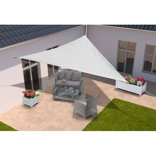KONIFERA Sonnensegel »Dreieck«, 500x500x500 cm, in verschied. Farben, weiß