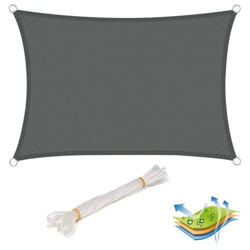 Woltu Sonnensegel, wasserabweisend Sonnenschutz,Polyester grau