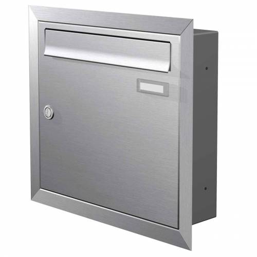 Max Knobloch Briefkasten »Edelstahl Unterputz-Briefkasten (12 Liter) Einbaubriefkasten«