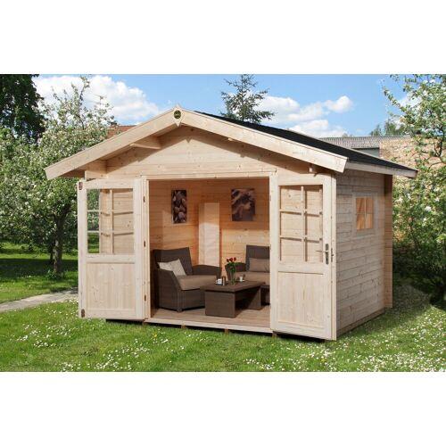 weka Set: Gartenhaus »Gr.1«, BxT: 255x230 cm, inkl. Dachschindeln und Fußboden, natur
