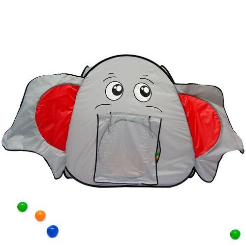 LittleTom Spielzelt »Spielzelt Kinderzelt +Tunnel Bällebad Zelt indoor/« Kinderspielzelt inkl. Tasche
