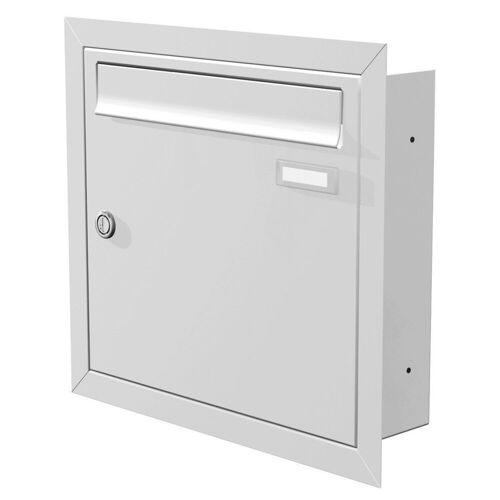 Max Knobloch Briefkasten »Unterputz-Briefkasten weiss (RAL 9016) 12 Liter Einbaubriefkasten«