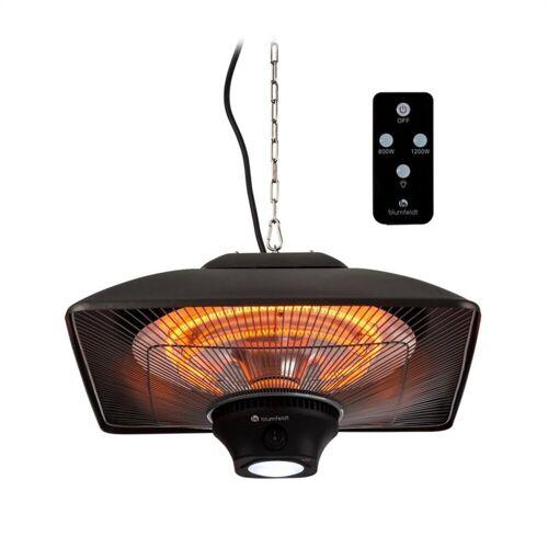 blumfeldt Terrassenstrahler Heat Square Infrarot-Heizstrahler 650/1350/2000W Carbon IP24 LED