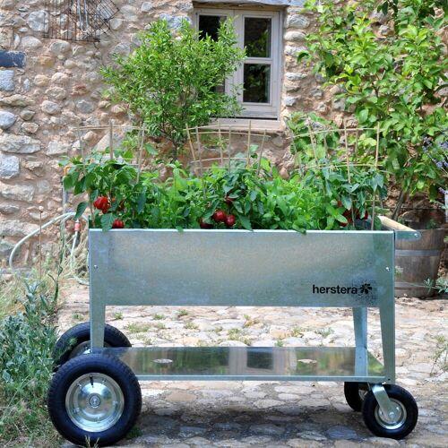 Herstera Garden Hochbeet »Swivel«, BxTxH: 120x60x80 cm, silberfarben
