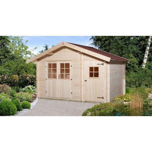 weka Set: Gartenhaus »Gr.2«, BxT: 420x310 cm, inkl. Dachschindeln und Fußboden, natur