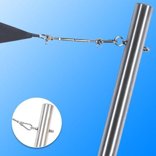 Toldoro Sonnensegel »Sonnensegelmast V2A Ø70mm Wandung 3mm mit Augbolzen Edelstahl rostfrei«