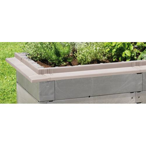 Juwel Schneckenkante »Timber«, für Hochbeet, grau