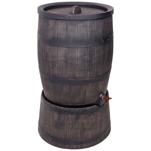 ONDIS24 Regentonne »Wasserfass Regentonne Wasserbehälter Amphore Eichenfass 120 Liter mit Ständer«, 120 l