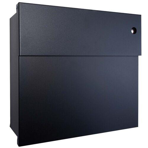 Radius Briefkasten »Briefkasten Letterman 4 schwarz mit LED-Klingel rot 560 F-KR«