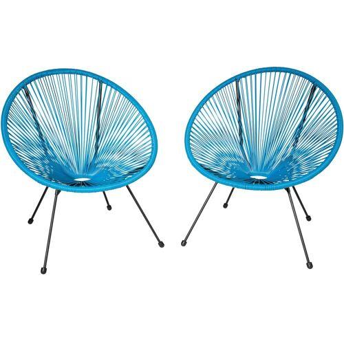 tectake Gartenstuhl »2 Gartenstühle Gabriella«, blau