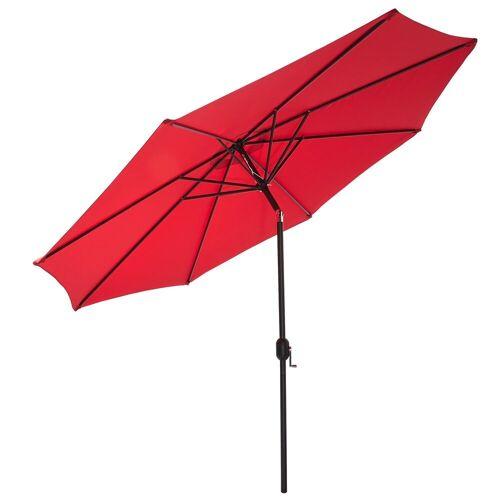 Gartenfreude Sonnensegel »Sonnenschirm 300 cm«, Wetterfest, Rot