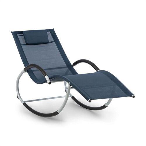 blumfeldt Gartenliege »Westwood Rocking Chair Schaukelliege ergonomisch Aluminium dunkelblau«, Schwingeffekt, ergonomisch geformte Gartenliege