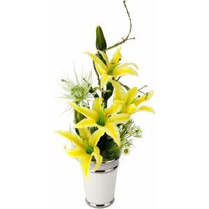 Kunstpflanze »Arrangement Lilien in Topf«, Höhe 54 cm