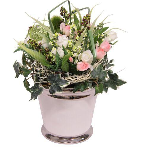 Kunstpflanze »Mini Röschen« Rose, Höhe 28 cm