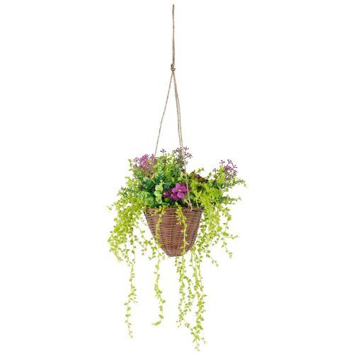 Kunstpflanze »Hängeampel« Senecio, Höhe 70 cm
