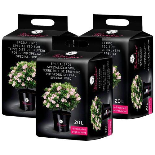 Bloombux Spezialerde , für Moorbeetpflanzen, 3x20 Liter, grün