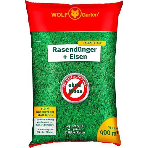 WOLF-Garten WOLF GARTEN Rasendünger »L-PM 400 + Eisen«, 10 kg, grün