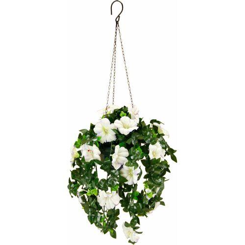 I.GE.A. Kunstpflanze »Petunien Hängeampel 66 cm«, , Höhe 66 cm, weiß