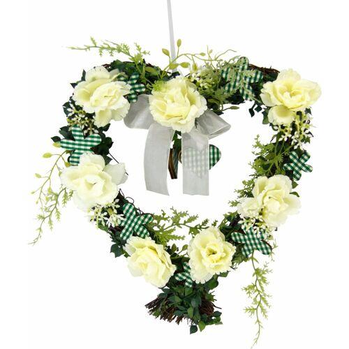 I.GE.A. Kunstpflanze »Herz Rosen 25/26 cm« Rosen, , Höhe 27 cm, weiß