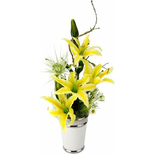 Kunstpflanze »Arrangement Lilien in Topf« Lilien, Höhe 54 cm
