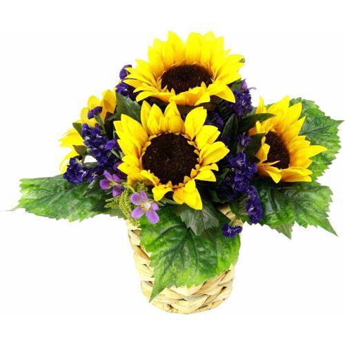 Kunstpflanze »rrangement Sonnenblume in Wasserhyazinthentopf«