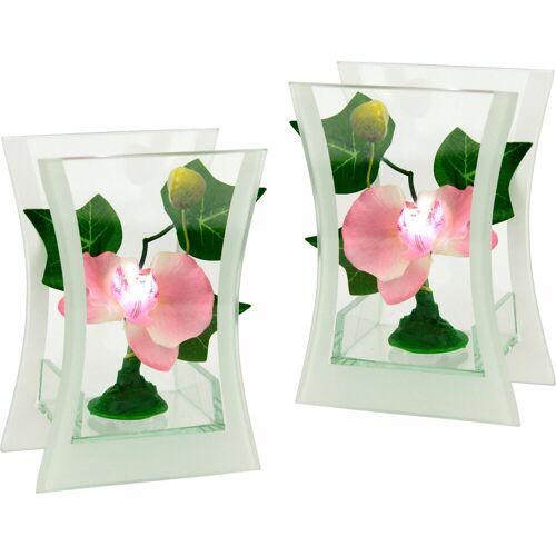Kunstpflanze (Set, 2 Stück), rosa