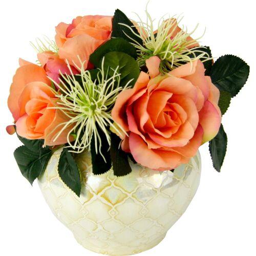 Kunstpflanze Rosen/Protea, Höhe 25 cm