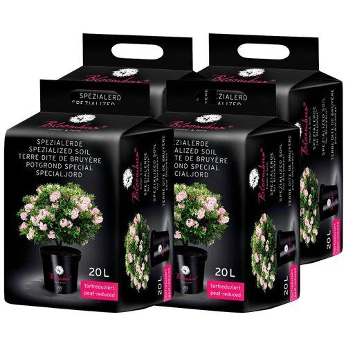 Bloombux Spezialerde , für Moorbeetpflanzen, 4x20 Liter, grün