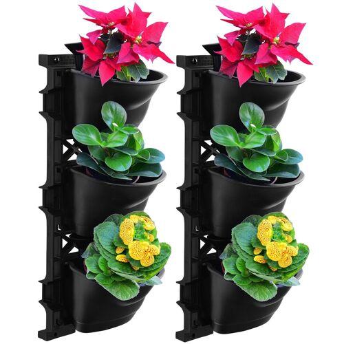 UPP Pflanztopf »Wand-Garten«, mit Bewässerungssystem, 2x3 Töpfe, schwarz