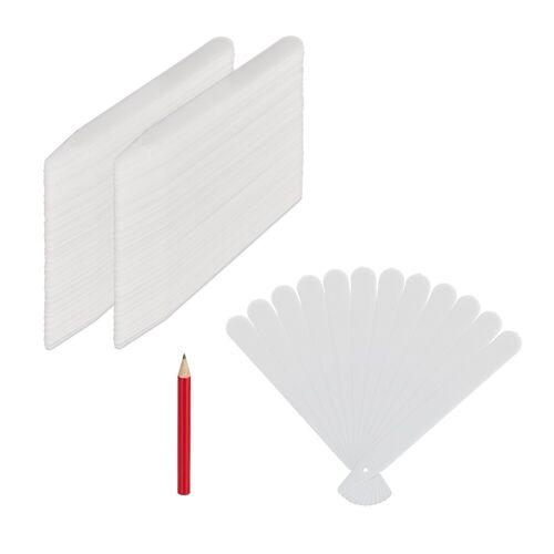 relaxdays Etikettenpapier »Stecketiketten 300er Set aus Kunststoff«