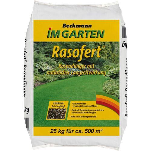 Beckmann IM GARTEN Rasendünger »Rasofert«, 25 kg Sack für ca. 500 m², grün