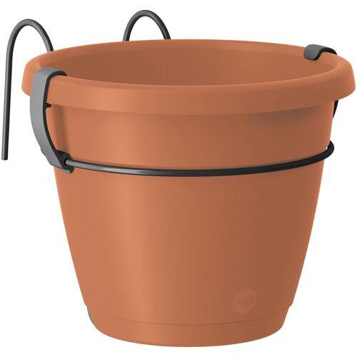 Emsa Set: Blumenkasten »CITY Hängetopf«, 3 tlg., 2x Ø 20 cm und 1x Ø 40 cm, orange