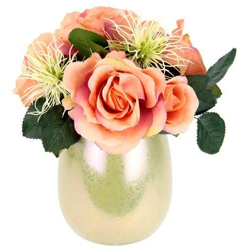 I.GE.A. Kunstpflanze Rosen/Protea, , Höhe 25 cm