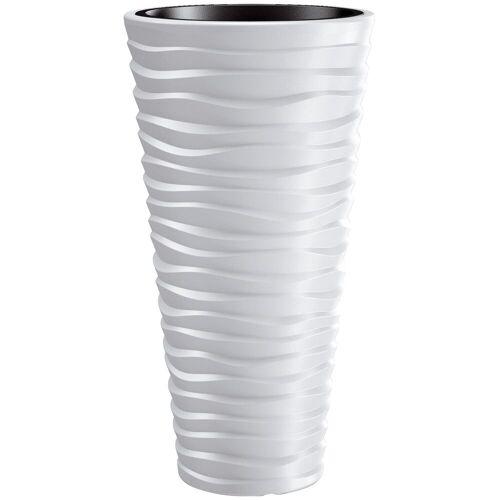 Prosperplast Blumentopf »Sand slim«, weiß, Ø 29,6, weiß
