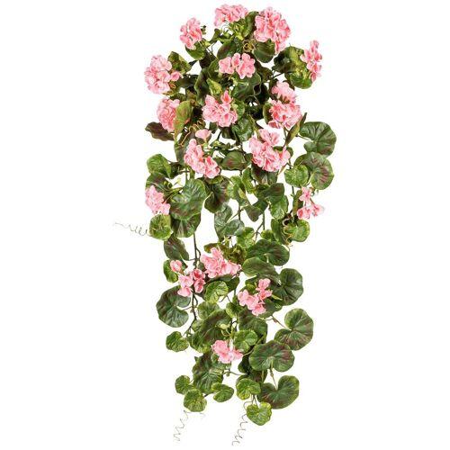 Gasper Kunstpflanze »Geranienhänger«, Ø: 80 cm, rosa