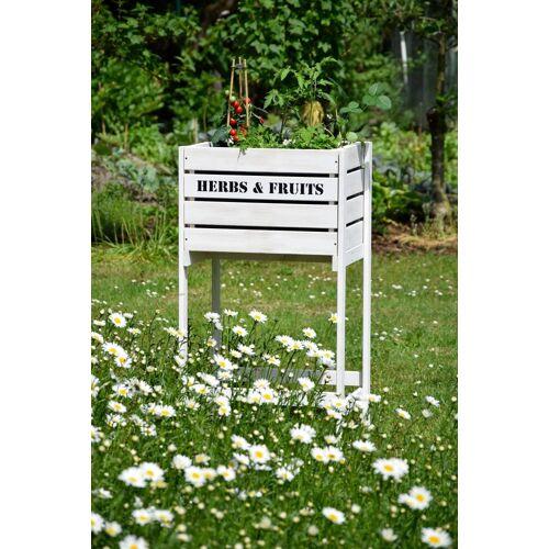 dobar Hochbeet »Obstkiste«, BxTxH: 49x42x90 cm, weiß