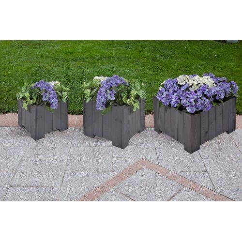GASPO Set: Blumenkasten »Wels«, 3 Stk. in 3 Größen, grau