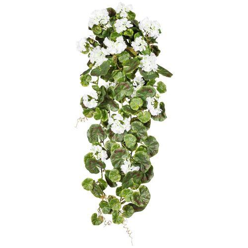Gasper Kunstpflanze »Geranienhänger«, H: 80 cm, weiß