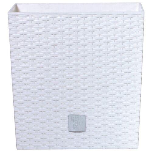 Prosperplast Blumentopf »Rato low«, weiß, B/T/H: 26,2/26,2/26,6 cm, weiß