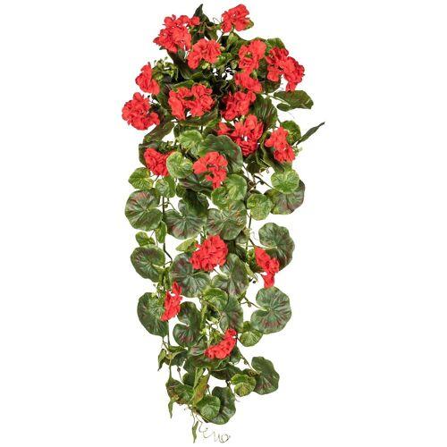 Gasper Kunstpflanze »Geranienhänger«, Ø: 80 cm, rot