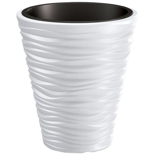Prosperplast Blumentopf »Sand«, weiß, Ø 34,5, weiß